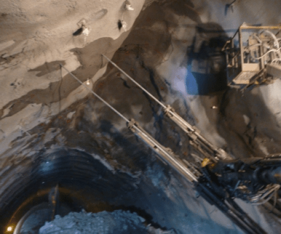 Rock bolts installed in Rohtang tunnel