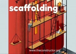 Which are the materials used for making scaffolding?