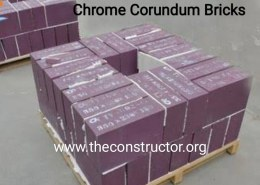 Why are Chrome Corundum Bricks Red in Color?