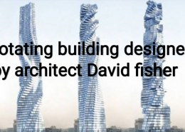 Mechanism of rotating tower lacated at Dubai?