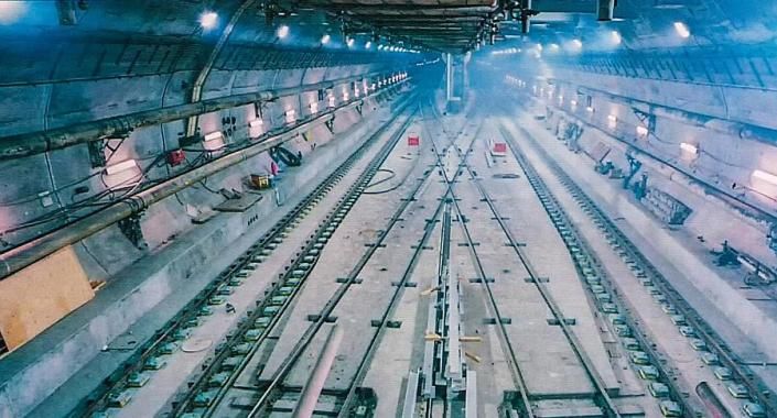 Channel Tunnel railway station inside the sea