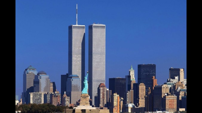 Twin towers of world trade center before the collapse