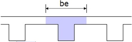 Effective Flange Width of Internal T-beam