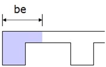 Effective Flange Width of L-beam