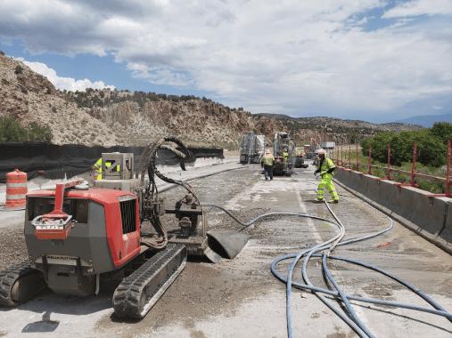 Hydrodemolition of Bridge Deck