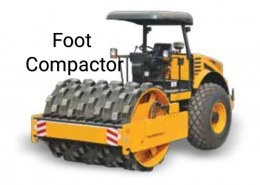 Can a foot compactor achieve the soil density of G45?