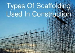 Sketches of types of scaffolding used in building construction