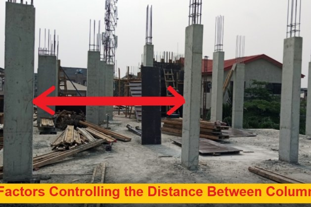 What are the Factors Controlling the Distance Between RCC Columns?