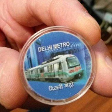 Delhi metro token
