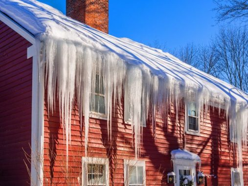 Ice dams on metal roofs