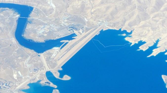 Mosul Dam located on the Tigris River in Iraq