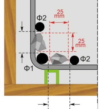 Spacing between Bars in a Reinforced Concrete Beam