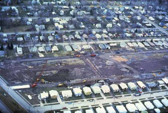 Excavation and removal of contaminated soil at love canal site