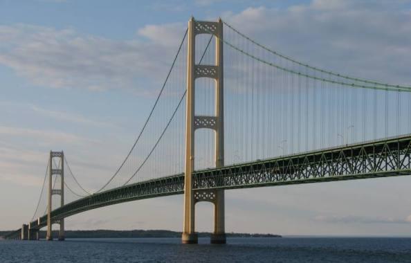 Longest suspension bridge of the Michigan state