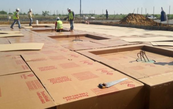 Degradable Void Forms Used Under Slab
