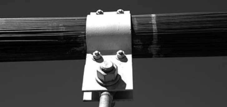 The pin connection is used between the steel rods and the bridge deck for hanger connection.