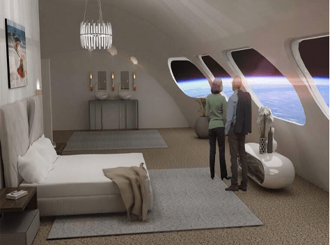 Guests can witness spectacular views of the Earth while enjoying comfort pleasure.