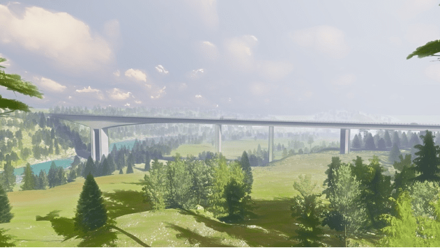 Randselva Bridge in Norway constructed without the use of papers