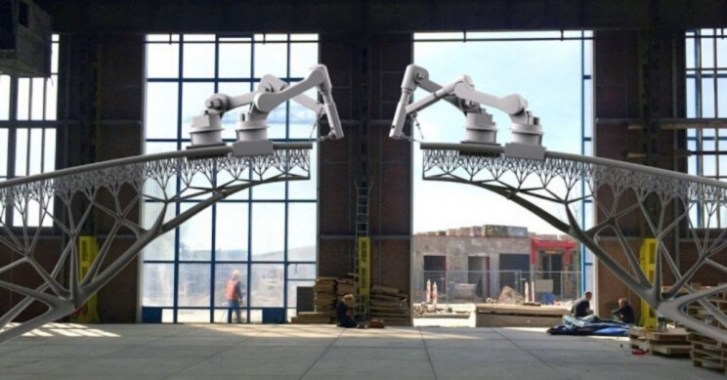 Use of robots to build truss