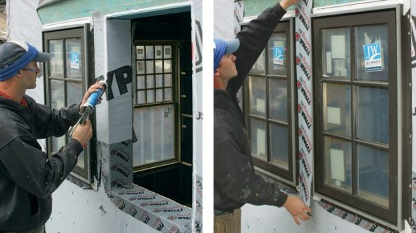 Fixing of window frame in existing opening