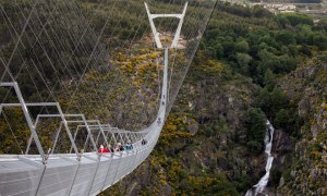 World's Longest Pedestrian Suspension Bridge Opens in Portugal