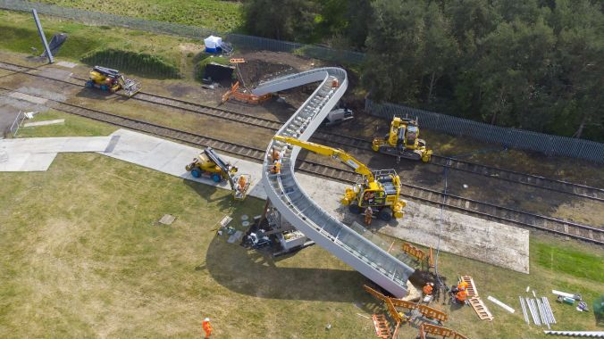 Network Rail's new railway footbridge