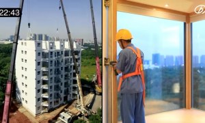 10-Story Building in China Built in Just 28 Hours | Video Inside
