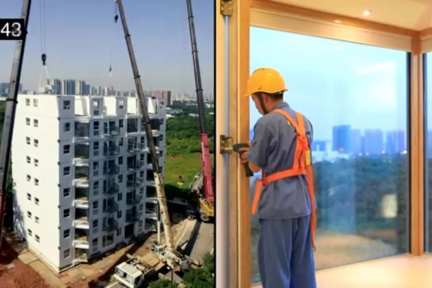 10-Story Building in China Built in Just 28 Hours   Video Inside
