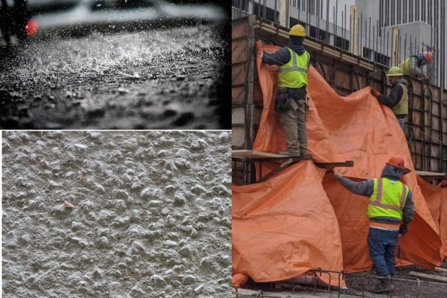 What are the Effects of Rain on Freshly Placed Concrete?