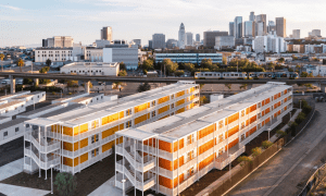 A Housing Complex Developed Using Shipping Containers