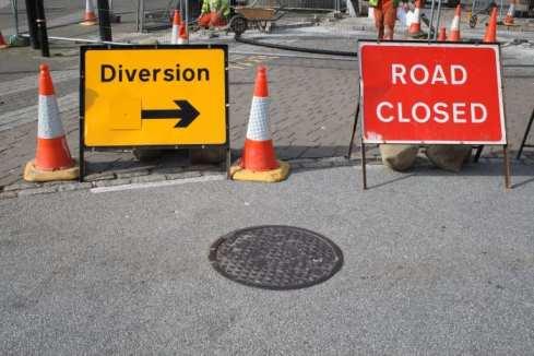 Traffic diversion signs