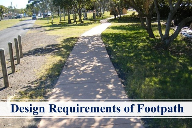 Design Requirements of Footpath