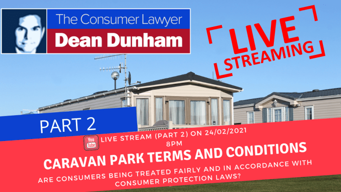 ARE CARAVAN PARK OWNERS BREACHING CONSUMER PROTECTION LAWS? (PART 2)