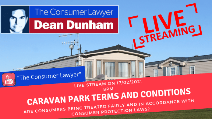 Are caravan park owners breaching consumer protection laws?