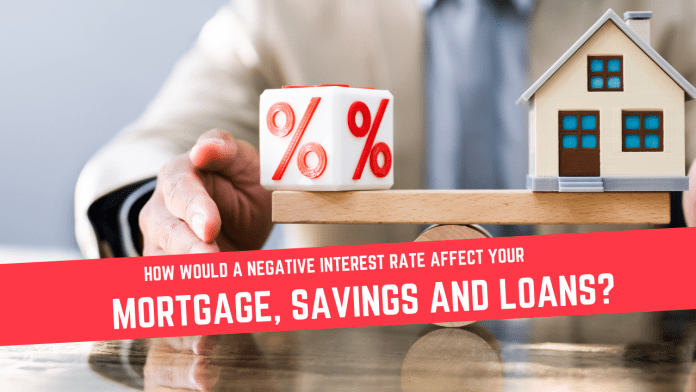 How would a negative interest rate affect your mortgage, loans and savings?