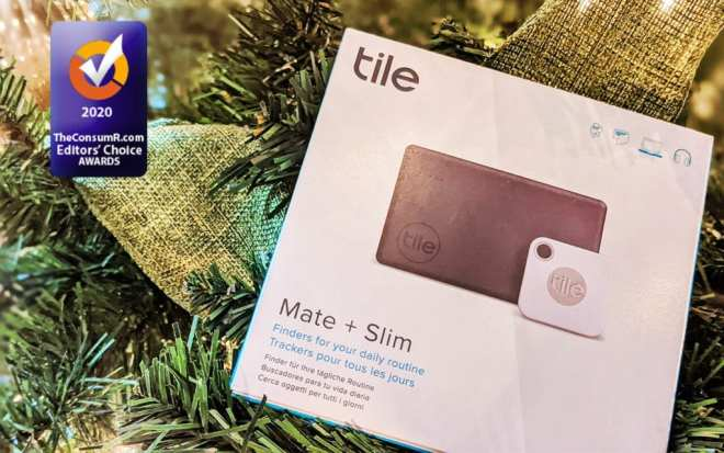 Review of the Tile Mate + Slim on a Christmas Tree