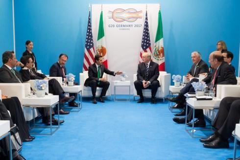 Trump Meets Enrique Pena Nieto at G20