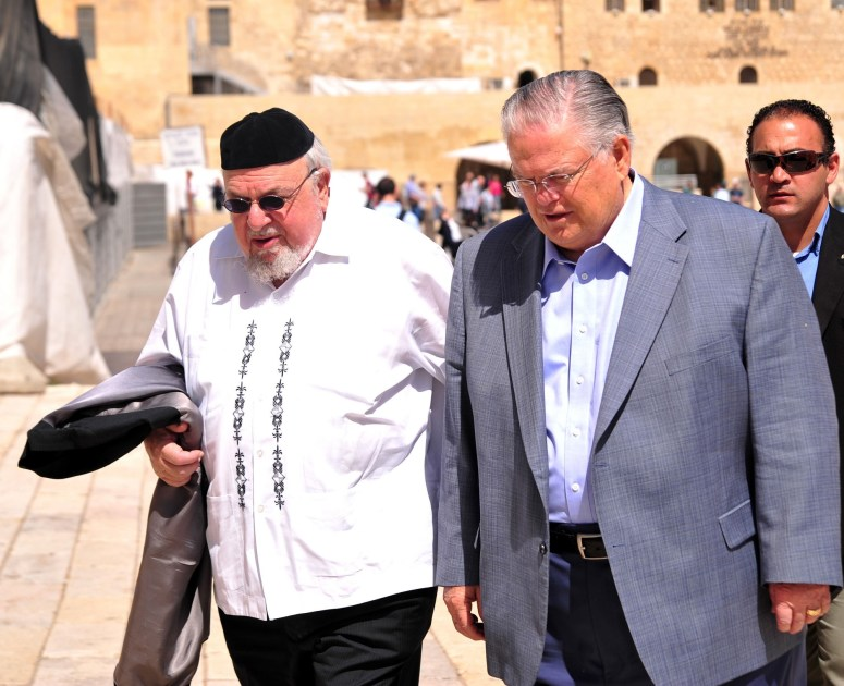 Hagee and Scheinberg in Israel