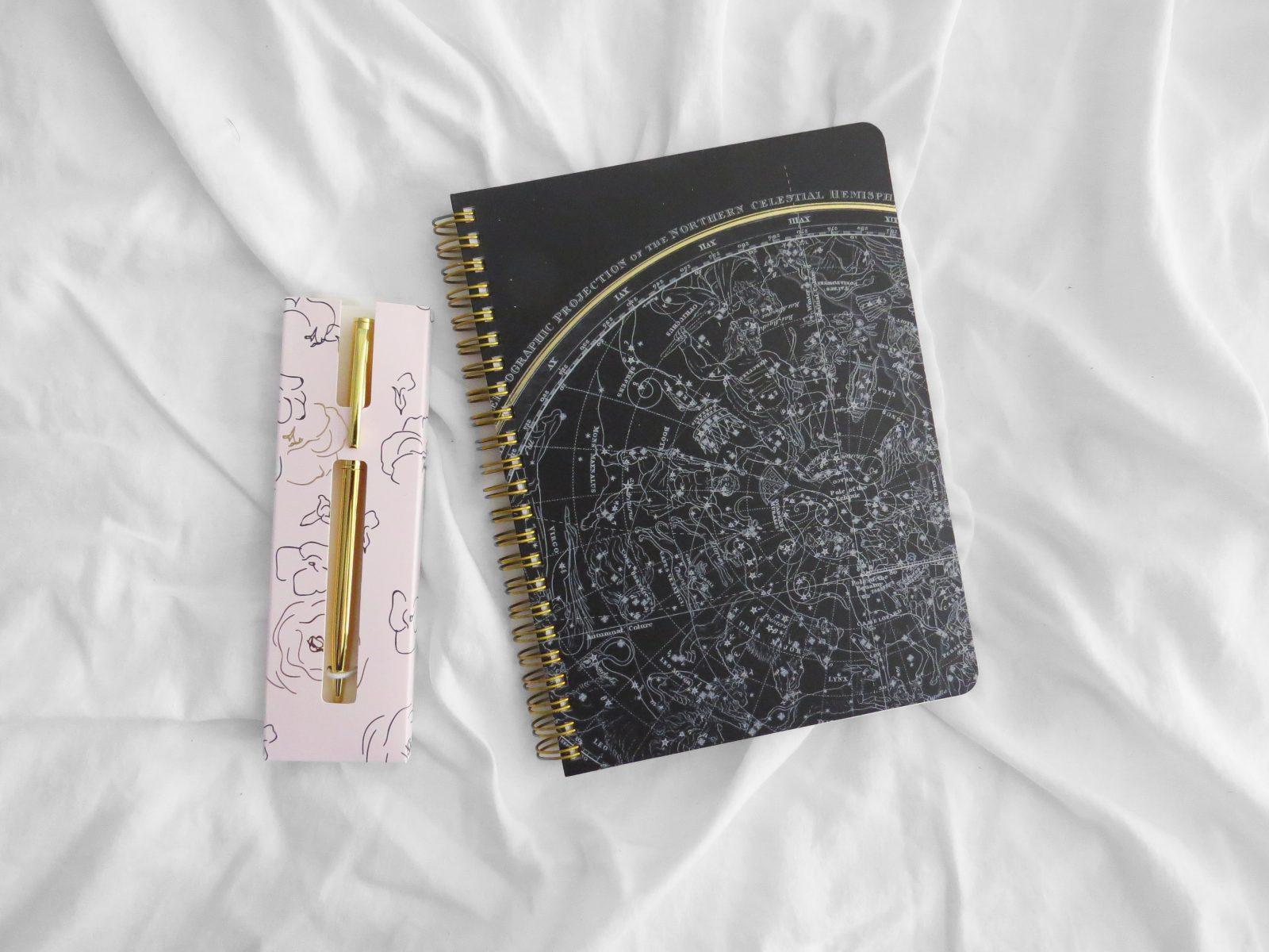 Indigo Book Box October 2018 Notebook + Pen - The Contented Reader
