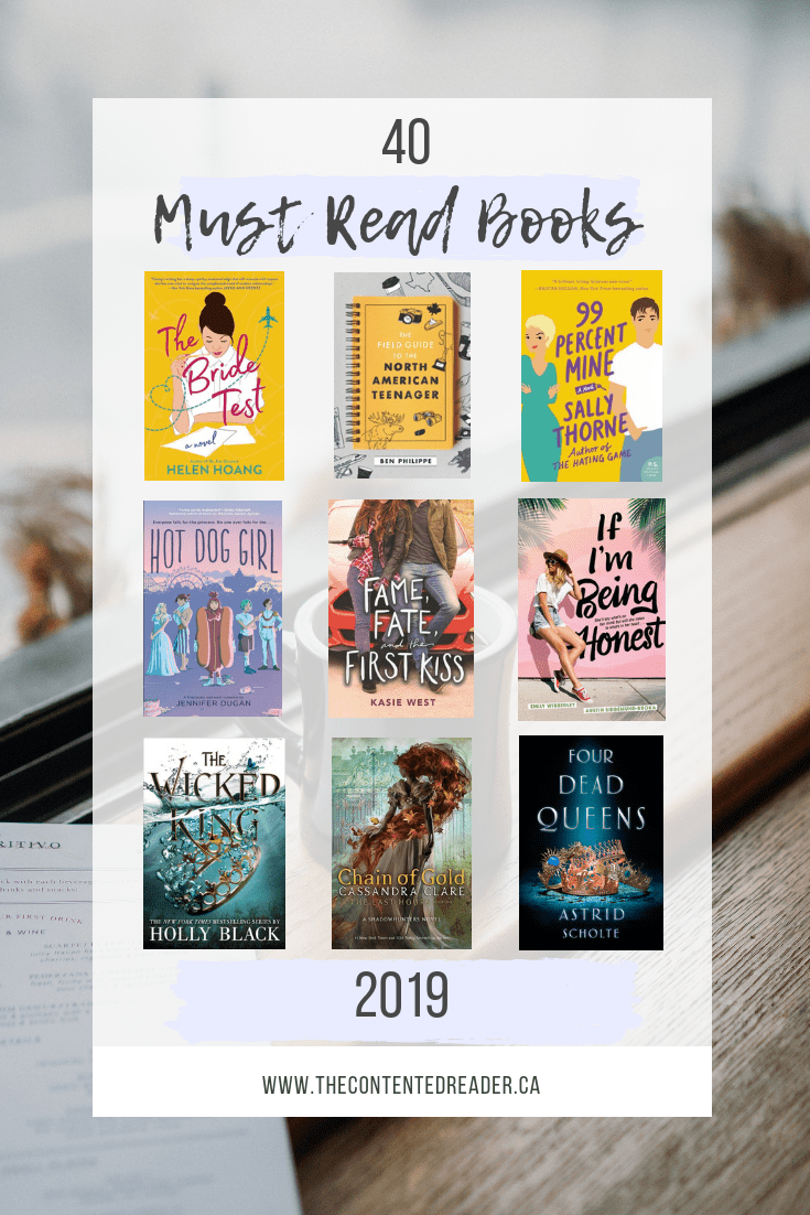 40 Must Read Books in 2019 - The Contented Reader