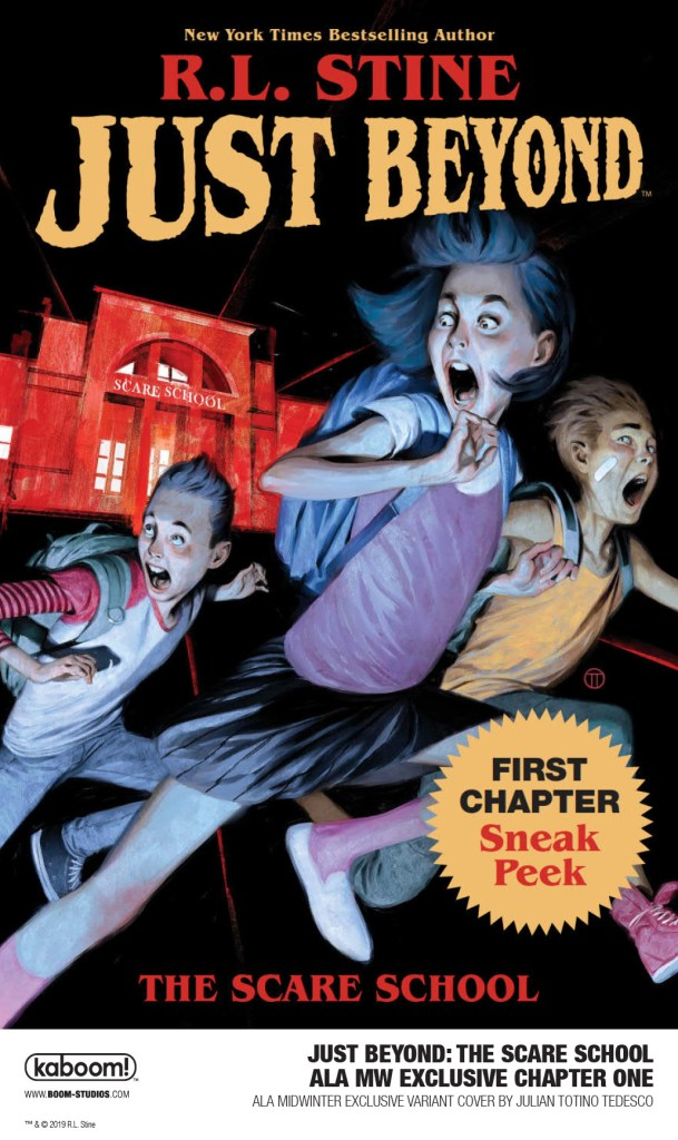 Cover of BOOM! Studios Just Beyond The Scare ALA MidWinter exclusive