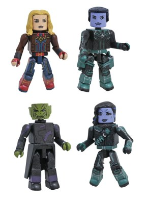 Diamond Select Toys Marvel Movie Minimates Captain Marvel Box Set