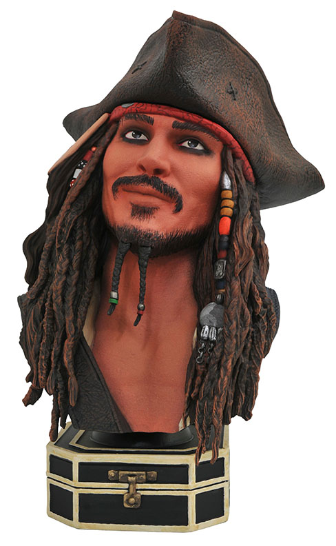 Diamond Select Toys Legends in 3D Movie Jack Sparrow Half-Scale Resin Bust