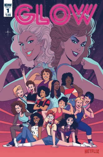 Cover of IDW's GLOW #1