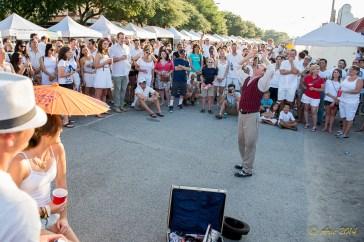 Jim Mackenzie Entertaining the crowd