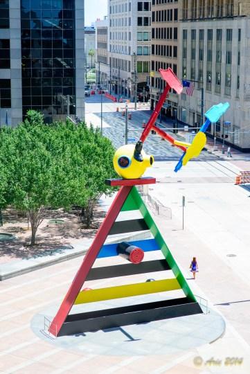 Personage and Birds, Joan Miro, Houston, Texas