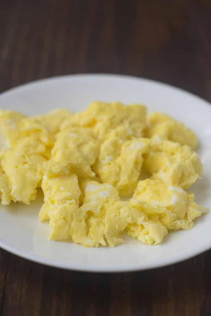 microwaved scrambled eggs thecookful