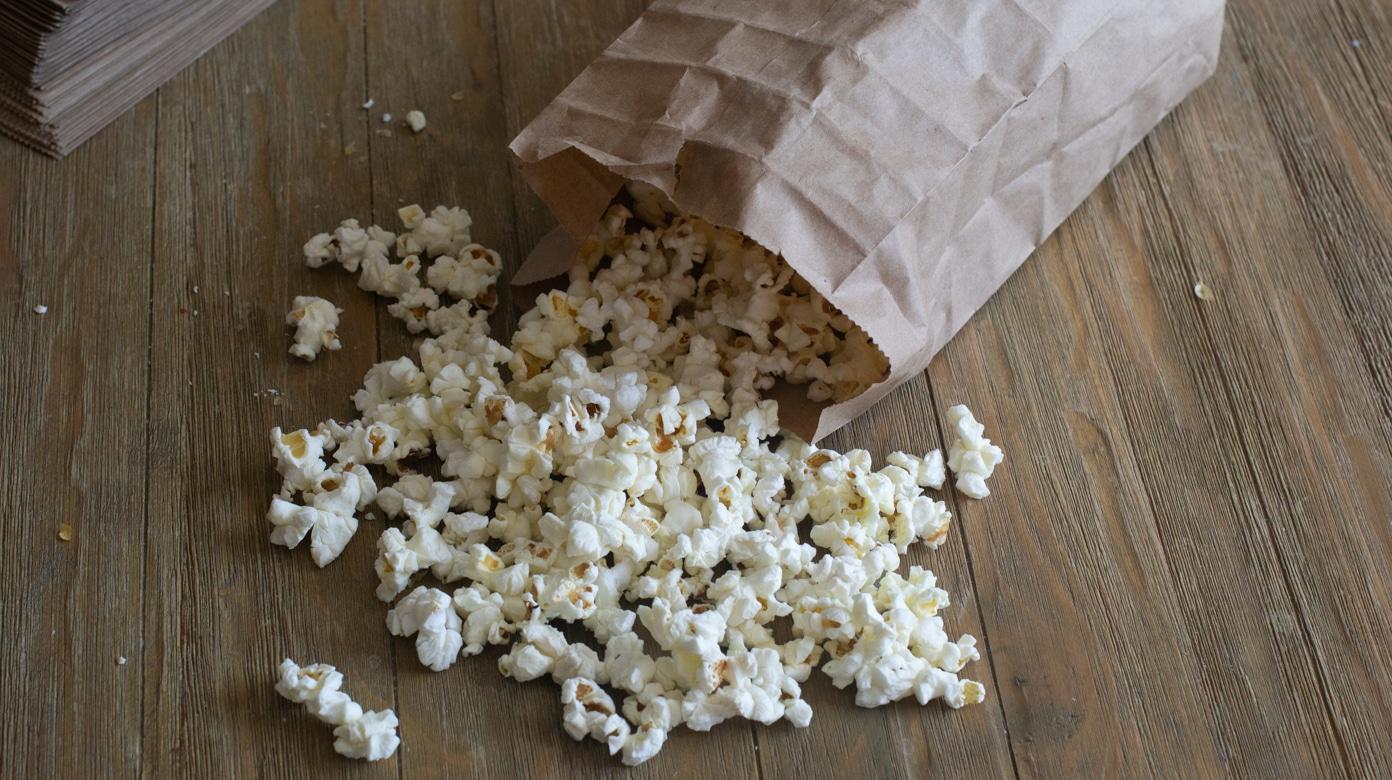 healthy diy microwave popcorn