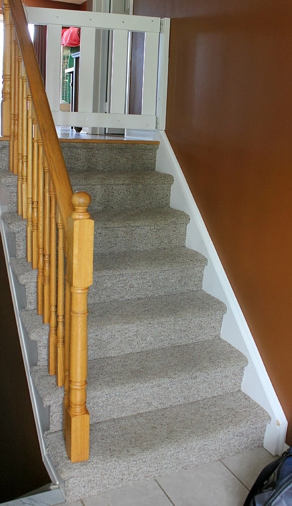 Stairway Remodel Part 1 Ripping Out Old Carpet And Finding   Wrapping Stair Treads With Carpet   Stairway Remodel   True Bullnose   Non Slip   Wood Stairs   Oak Valley
