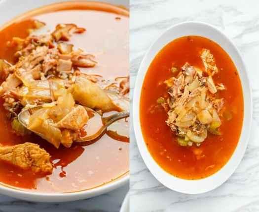 Tomato Turkey Soup with Wild Rice